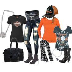 """Harley Davidson"" by tristiking on Polyvore"