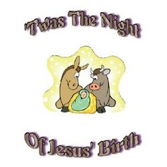 Printable Christmas Story Poem – Twas the Night of Jesus' Birth