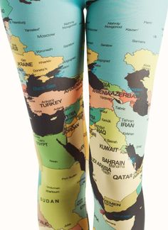 Map Tights Just in case you get lost! Just In Case, Just For You, Map Globe, E Mc2, We Are The World, Tight Leggings, Print Leggings, What To Wear, Style Me