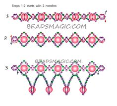 Free pattern for beaded necklace Alexis | Beads Magic