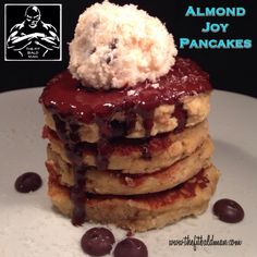 almond joy pancakes - THE FIT BALD MAN