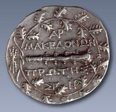 macedonia Photo: ancient macedonian coin in greek. Ancient Beauty, Ancient Egyptian Art, Ancient Aliens, Ancient Greece, Greek History, Modern History, European History, American History, Macedonia Greece