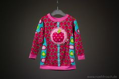 Nähfrosch Shirt Schnittmuster HippMe von Janeas World Stickdatei Apfel von Kerstin Bremer Apfelstoff von LilaLotta Nähen DIY