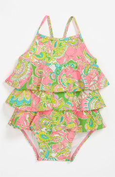 Lilly Pulitzer ruffle swimsuit for little ones