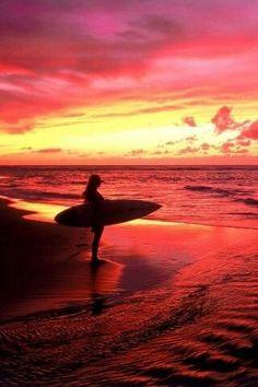 Sunset, summer, & surfing