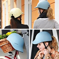 Good judgment is always sexy. And there are a lot of protective lids that actually look decent. Attractive even. In no particular order, I present to you my favorite helmet styles. The post 10 Shockingly Chic Bicycle Helmets appeared first on Trendy. Bicycle Helmets For Women, Womens Bike Helmet, Cool Bike Helmets, Mountain Bike Helmets, Riding Helmets, Mountain Biking, Cruiser Bike Accessories, Cool Bike Accessories, Helmet Accessories