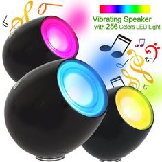 Vibration Speaker Lamp Led with 256 Colors LED Mood Light Speaker LivingColors Novelty Night Light Led Table Lamp