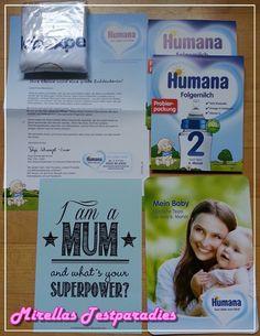 Ich bekam wieder gratis ein schickes Humana Paket, mit Strampler und mehr.