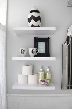 Open shelves in the bathroom.  6th Street Design School: Feature Friday: 346 Living