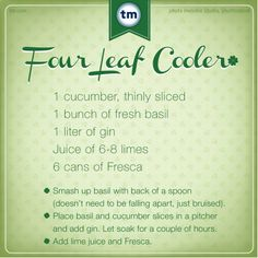 Four Leaf Cooler. Delicious St. Patrick's Day Cocktail.