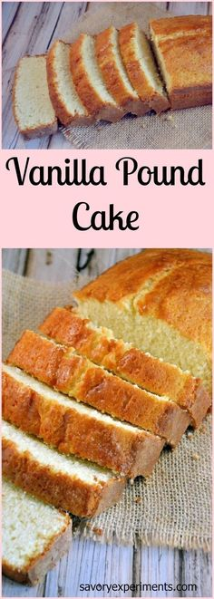Recipe- Every home cook needs a classic vanilla pound cake recipe. This one is hands down THE BEST! Perfect Pound Cake Recipe, Vanilla Pound Cake Recipe, Pound Cake Recipes, Easy Cake Recipes, Dessert Recipes, Pound Cakes, Strawberry Shortcake Pound Cake Recipe, Classic Pound Cake Recipe, Strawberry Frosting