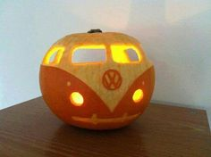VW bus pumpkin