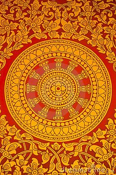 Photo about Ancient Thai Mural painting of a Buddhist wheel on the temple s door. Image of decorate, oriental, orient - 23680950 Mural Painting, Artist Painting, Thai Pattern, Indian Artwork, Ornament Drawing, Thailand Art, Textile Patterns, Design Patterns, Textiles
