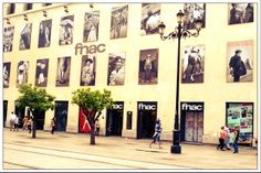 Fnac in Sevilla. Wall of local heroes.