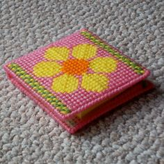 Plastic Canvas Flower Notepad Holder notepad by ReadySetSewbyEvie, $6.50