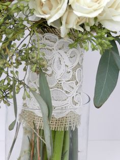 burlap and lace:)