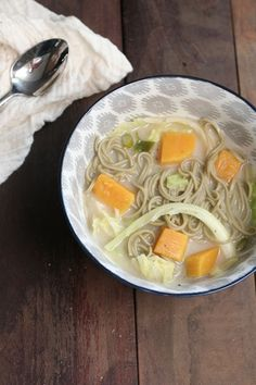 Autumnal Miso Soup with Soba | Frock Files