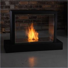 Real Flame Insight Ventless Gel Fuel Fireplace in Black Finish - 7000-B - Lowest price online on all Real Flame Insight Ventless Gel Fuel Fireplace in Black Finish - 7000-B