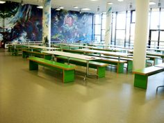 Have a light lunch with STARlite canteen benches and tables in a school canteen.