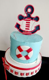 My Pink Little Cake: Nautical Theme 1 st Birthday Cake