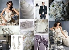 Romantic Silver Wedding Theme by One White Dress, via Flickr