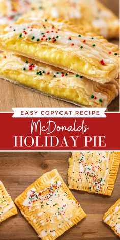 Holiday Pies, Holiday Desserts, Just Desserts, Holiday Recipes, Delicious Desserts, Yummy Food, Holiday Meals, Fun Food, Crack Crackers