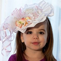 Hey, I found this really awesome Etsy listing at http://www.etsy.com/listing/124161338/toddler-girl-hat-spring-flower-girl
