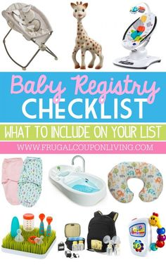 Baby Registry Checklist | What to Put on a Baby Registry on Frugal Coupon Living plus newborn hacks and tricks, How to Buy Everything You Need for Baby on Craigslist and Monthly Baby Photo Ideas.