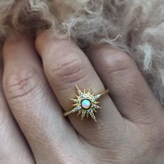 Starburst Opal Ring - local eclectic   - 5