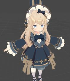 3d Model Character, Character Design, Modelos 3d, Low Poly Models, Anime Child, Anime Artwork, City Style, Texture Painting, Anime Style