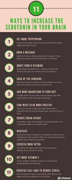 - 11 Ways To Increase the Serotonin In Your Brain (Naturally) Do you suffer from SAD? Serotonin levels are likely to be low. Try these simple ways to boost motivation & serotonin levels. Health And Wellness, Health Tips, Health Fitness, Mental Health Recovery, Health Benefits, Exercise And Mental Health, Fitness Hacks, Mental Health Care, Life Tips