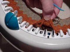 Innovations Knitting Machine - Removing Project from Machine