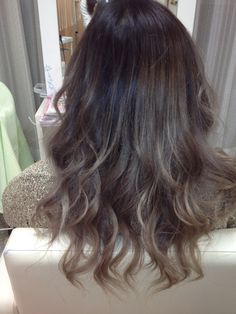 Brown ombre. I can't help it. I like the grey blonde tips.