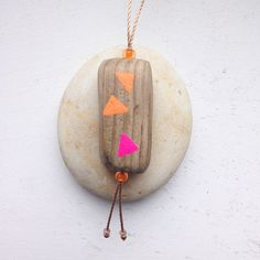painted driftwood - necklace - by JEVO