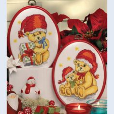 Christmas Bears - counted cross-stitch kit Idena