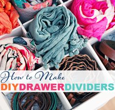 How to Make DIY Drawer Dividers
