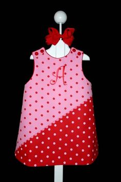 "Bridget Anderson's ""Valentine"" Outfit in Pink & Red Dot Twill"