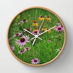 Meadow Flowers Wall Clock