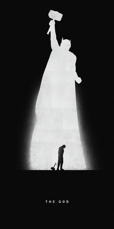 Silhouettes of Superheroes Reveal Their Past and Present - Thor