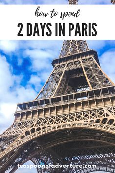 If your time in the City of Lights is limited, you can still make the most of it. Here's your perfect itinerary for 2 days in Paris! #paris #travel European Destination, European Travel, European Vacation, Bordeaux, North America Destinations, Paris Travel, Travel Europe, Europe Packing, Travel Abroad