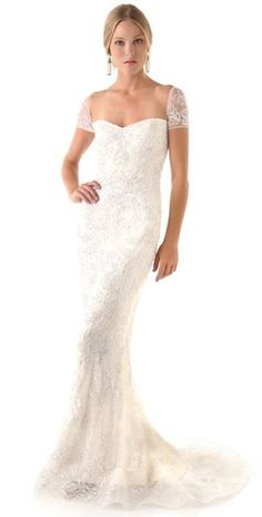 gorgeous pearl and sequin silk gown