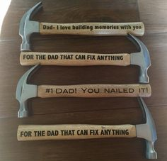 Father's Day Hammers  Cute Father's Day Gift www.facebook.com/rxboutique