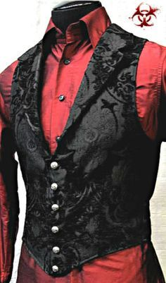 SHRINE-GOTHIC-ARISTOCRAT-VAMPIRE-VEST-JACKET-VICTORIAN-TAPESTRY-PIRAT-STEAMPUNK