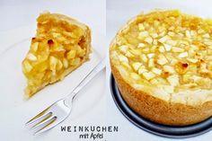 Kleine Kuchen - Weinkuchen mit Äpfeln