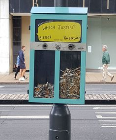 This Bin That Lets You Vote For Things With Cigarette Butts In Edinburgh - awesome!