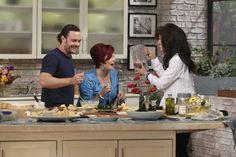 It's always interesting when Sharon and Julie are in The Talk kitchen! (with chef David Myers)