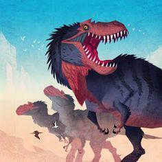 Prehistoric Life by Johan Egerkrans Jurassic World Dinosaurs, Jurassic Park World, Dinosaur Illustration, Illustration Art, Feathered Dinosaurs, Extinct Animals, Dinosaur Art, Prehistoric Creatures, Dragon Art