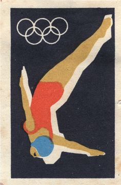 New Sport Design Poster Summer Olympics Ideas Retro Poster, Vintage Posters, Retro Print, Vintage Graphic, Graphic Design Illustration, Illustration Art, Graphic Art Prints, Matchbox Art, Soviet Art