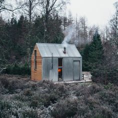Nestled in the woods of Cairngorms National Park, the Inshriach Bothy inspired the creation of the Artist Bothy series: customizable prefab cabins that can be purchased starting at