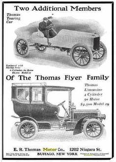1905 Thomas Flyer Automobile Advertisement